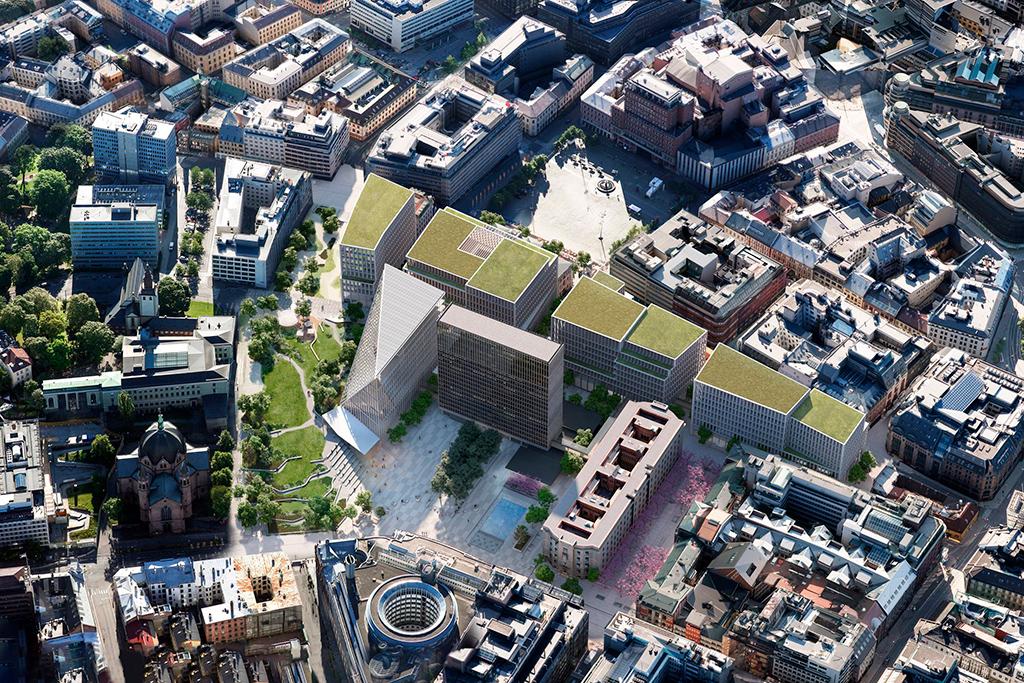 Визуализация реконструкции правительственного квартала в Осло