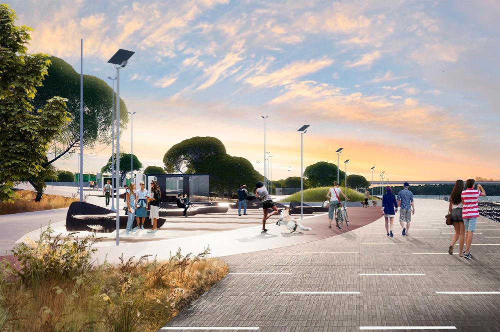 Проект набережной в Капотне