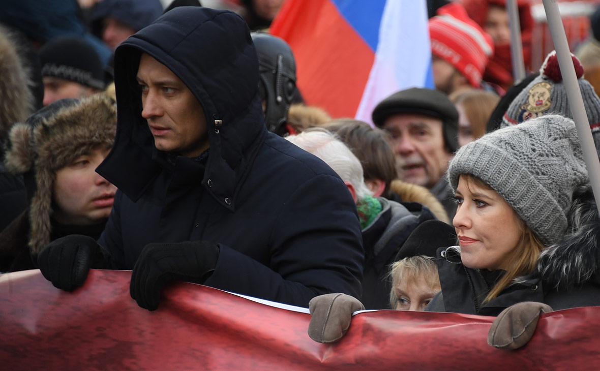 Дмитрий Гудков и Ксения Собчак