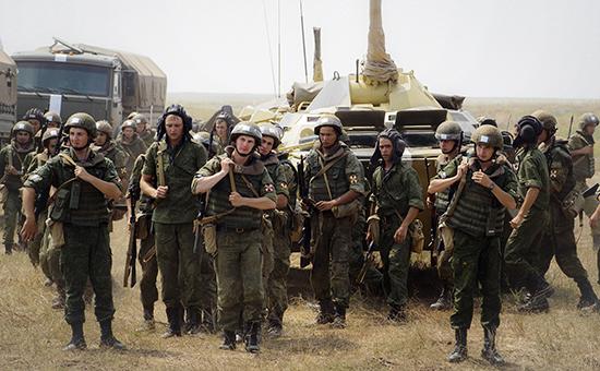 Военнослужащие Росгвардии во время тактических учений