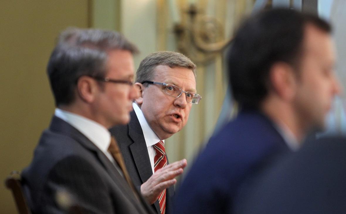 Герман Греф (слева) и Алексей Кудрин (в центре)