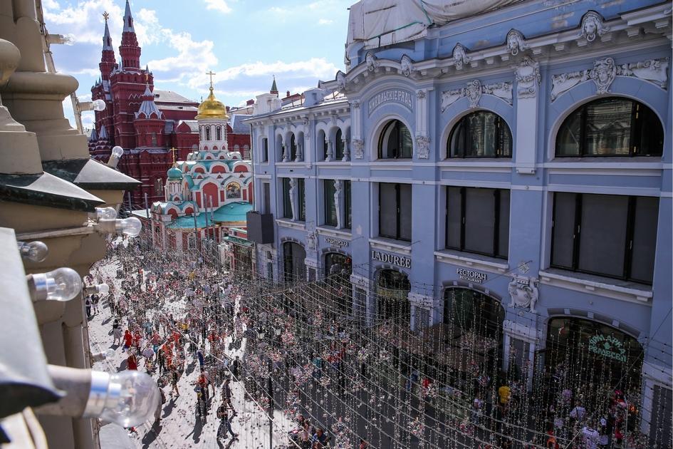 Вид на Никольскую улицу во время чемпионата мира по футболу – 2018