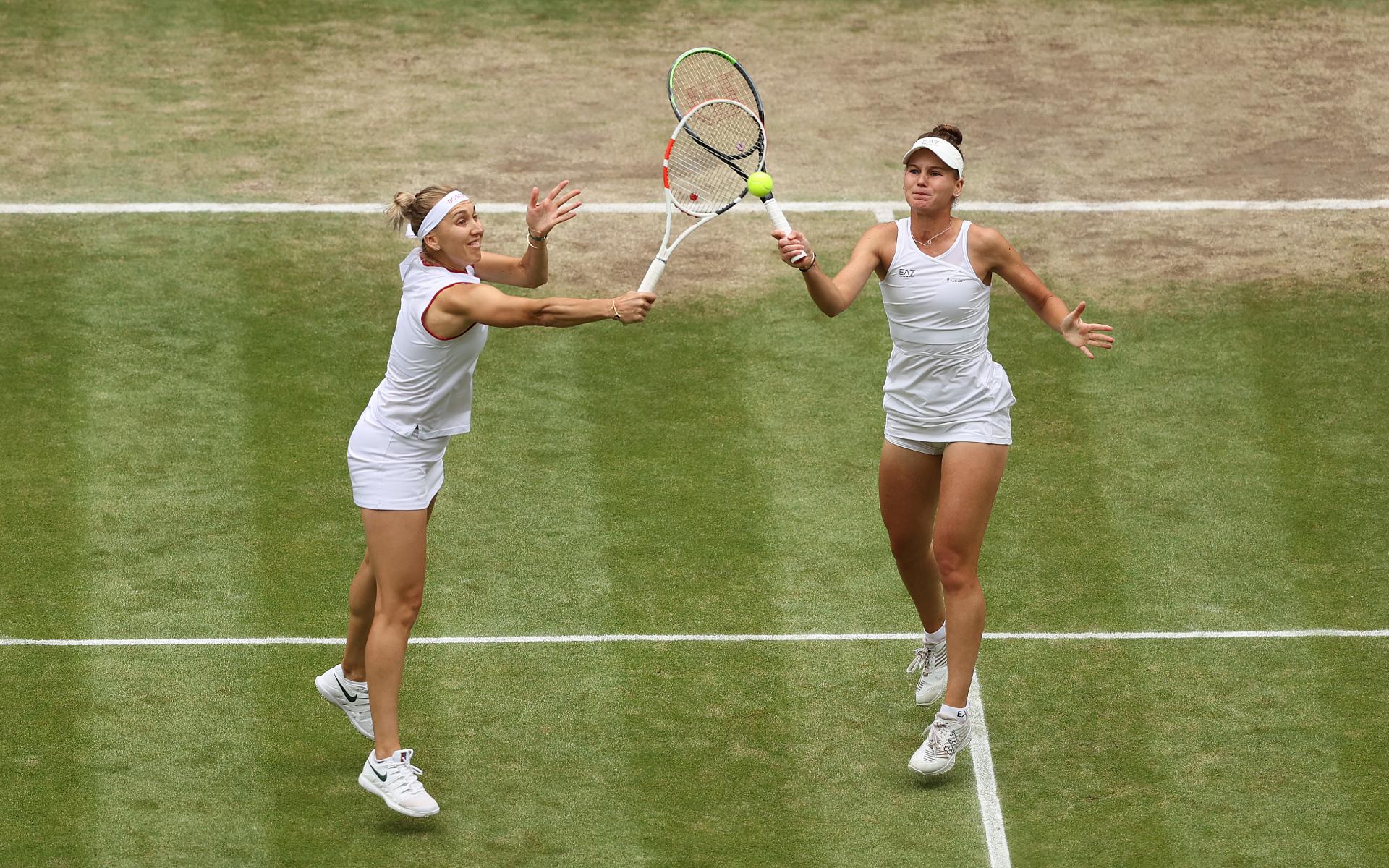 Фото: Елена Веснина и Вероника Кудерметова (Clive Brunskill/Getty Images)