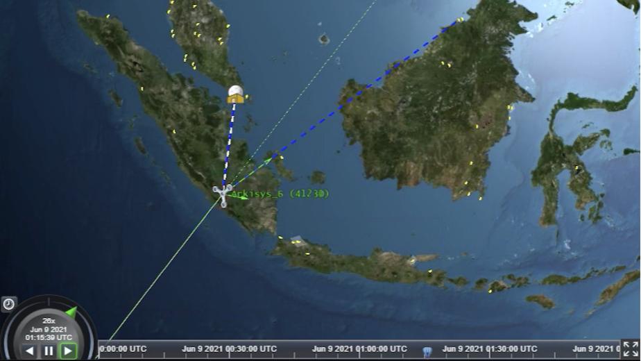 CNTIENT собирает данные о целях в Южно-Китайском море с одного спутника для наземной станции в Сингапуре