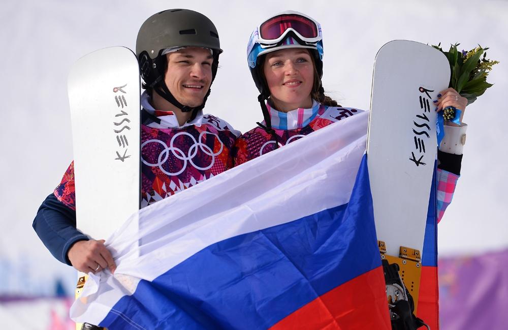 Вик Уайльд и Алена Заварзина на Олимпиаде в Сочи