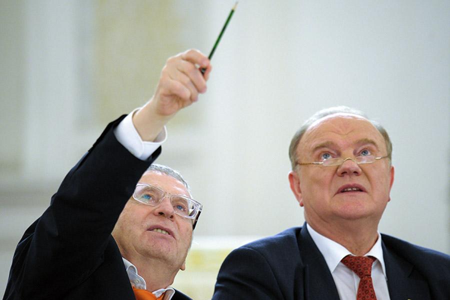Владимир Жириновский и Геннадий Зюганов (слева направо)