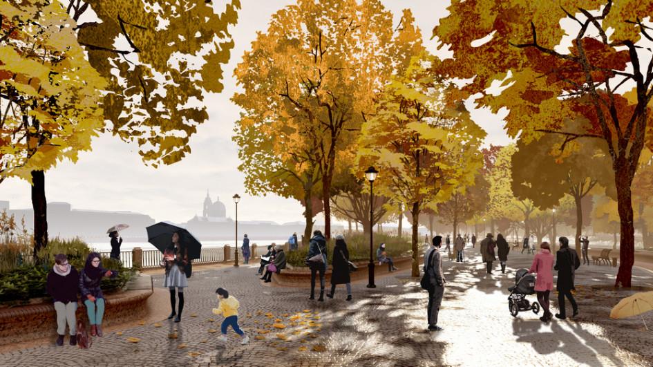 Концепция парка «Тучков буян», подготовленная архитектурной мастерской «Студия 44» Никиты Явейна