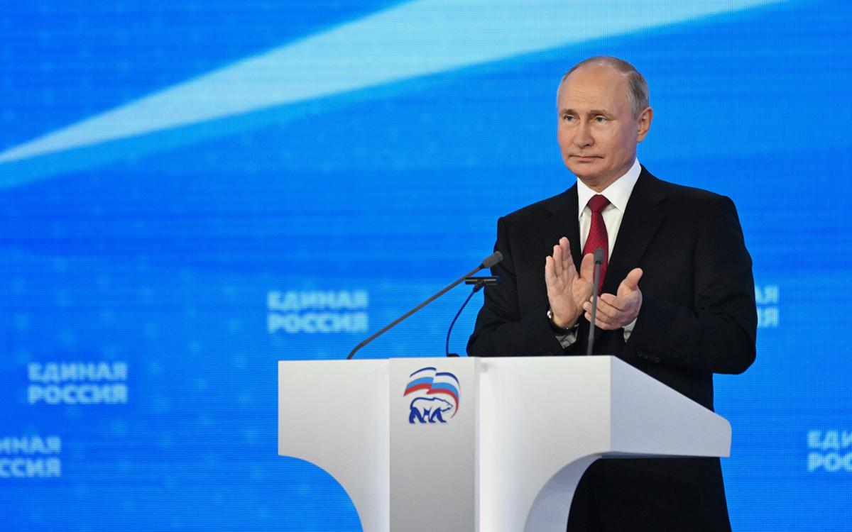 Владимир Путин на XX съезде Всероссийской политической партии «Единая Россия»