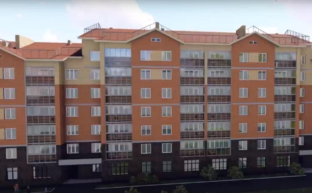 Визуализация дома 2/2 по улице Горького в Учалах.