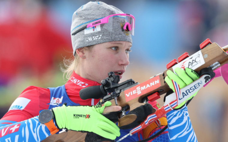 Фото:Российская биатлонистка Ирина Казакевич (Фото: Alexander Hassenstein/Getty Images)