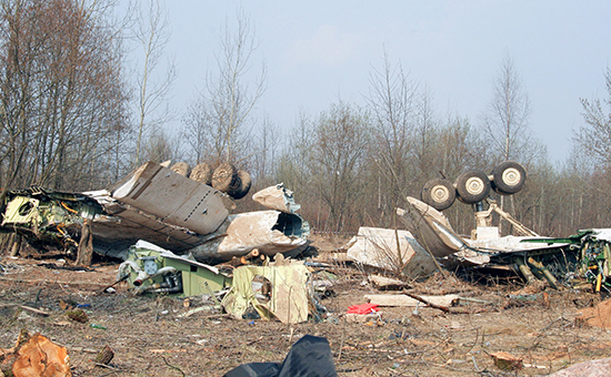 Обломки самолета Ту-154
