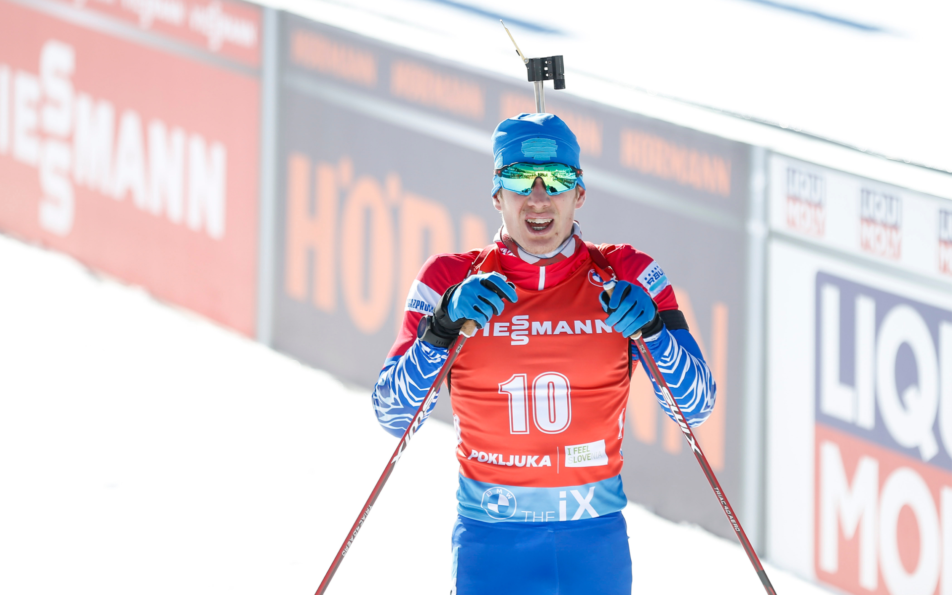Биатлонист сборной России Эдуард Латыпов