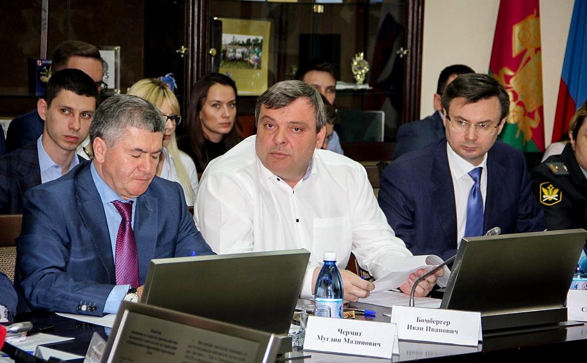 МугдинЧермит, Иван Бомбергер иСергей Юрин (слева направо)
