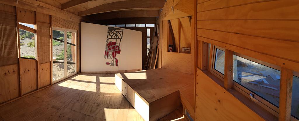 Название проекта: Vestal de la extensión Какой вуз представляет: Университет Чили  Дом-студия для двух человек, сделанный из экологичных переработанных дешевых материалов
