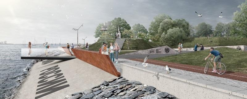 Фото: сайт администрации Балтийска, эскиз новой набережной