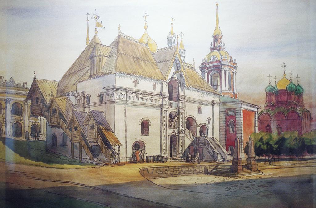 Картина «Английское подворье в XVII веке» из музея «Старый английский двор»
