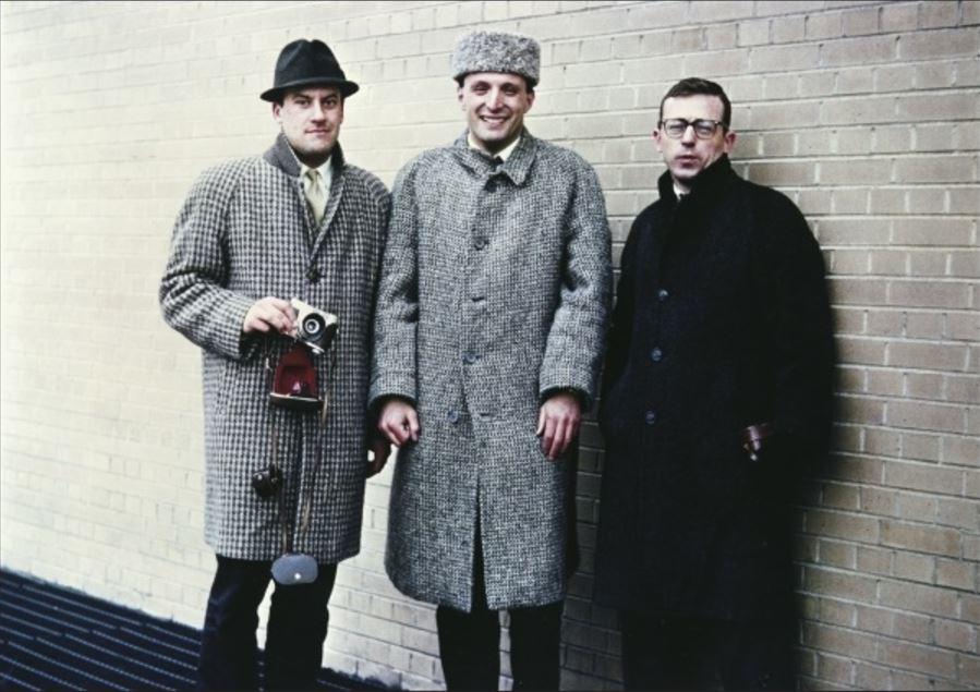 Норман Фостер (слева) учился архитектуре в Йельском университете вместе с Ричардом Роджерсом (по центру), Карлом Эбботом (справа) и Ренцо Пьяно (нет на фотографии)