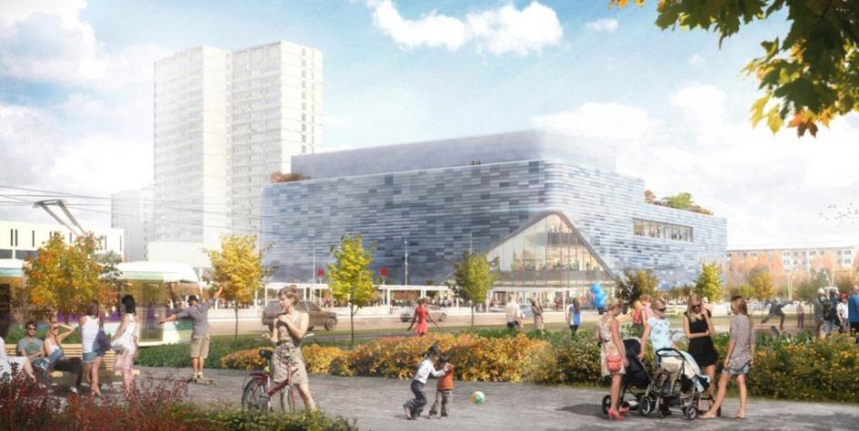 Проект торгового центра на месте бывшего кинотеатра «Киргизия» в Москве