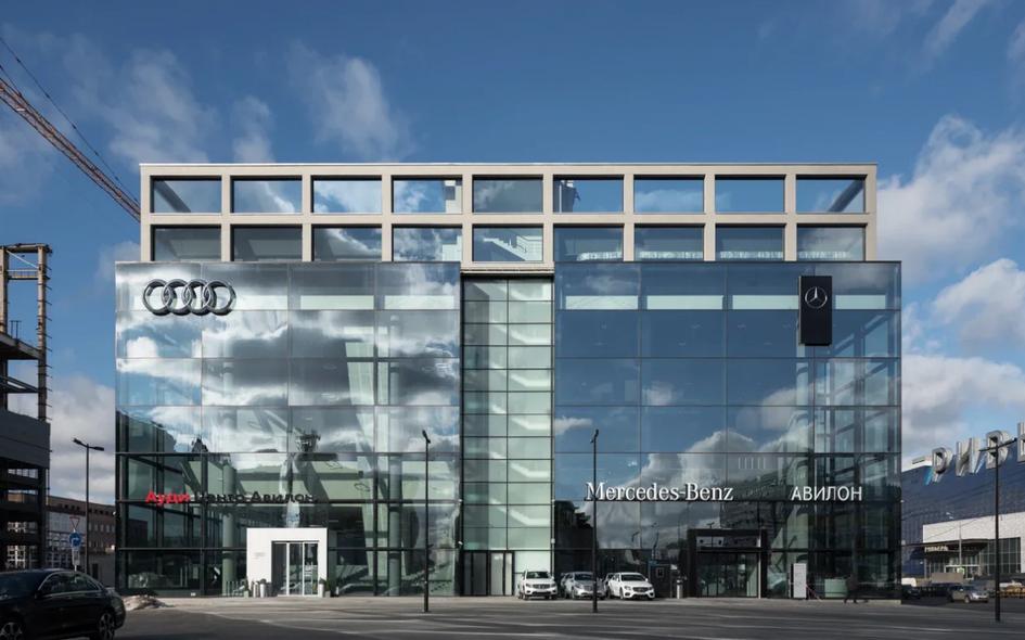 Дилерский центр и шоурум Mercedes-Benz и Audi на территории бывшего завода ЗИЛ