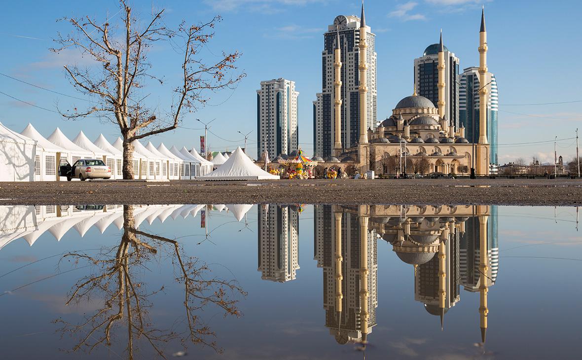 Вид на город Грозный