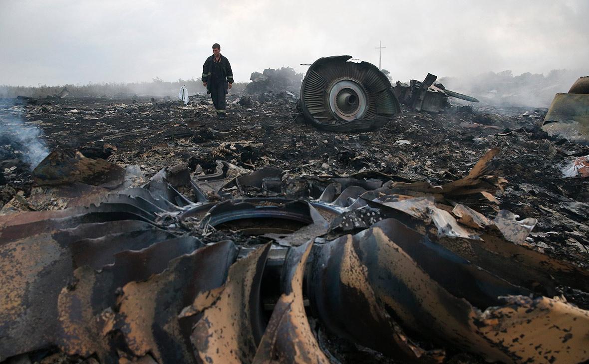 Место крушения Boeing MH17