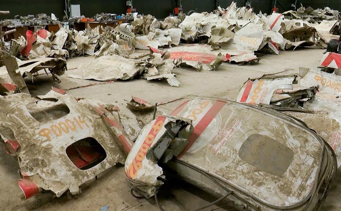 Обломки самолета Ту-154М