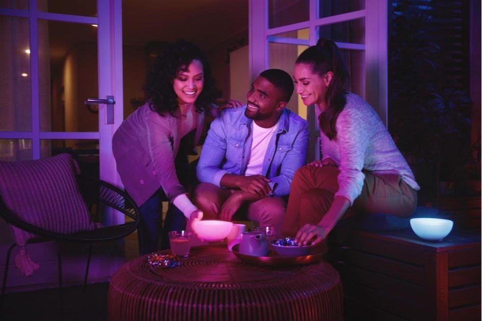 Портативные светильники можно разместить в любой точке комнаты