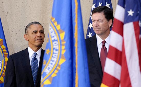 Президент США Барак Обама иглава ФБР Джеймс Коми, 2013 год