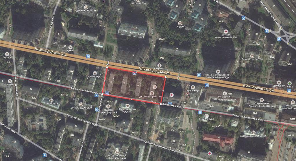Пятиэтажки врайоне Нижегородской улицы (Таганский район)