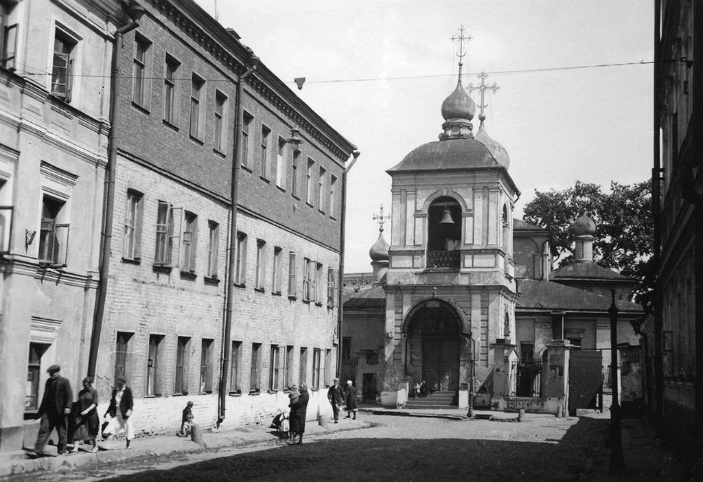 Мокринский переулок. Церковь Зачатия Анны. Фото 1920-х годов