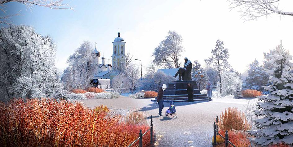 Проект благоустройства сквера Достоевского в Старой Руссе