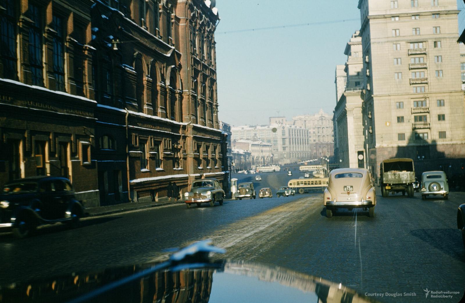 Перекресток Охотного ряда и Тверской улицы