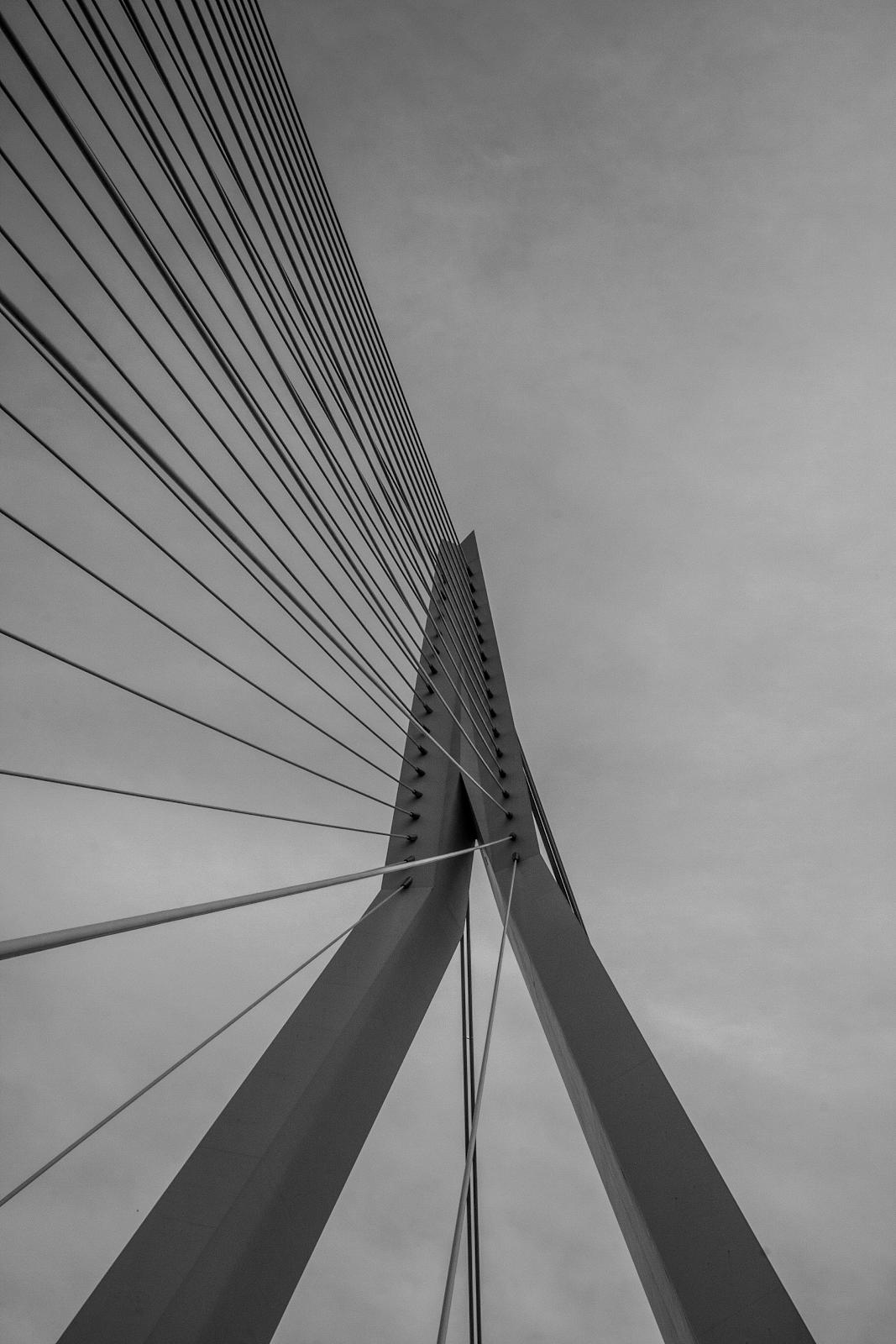 Хотя на картине изображена лишь часть моста на фоне неба, узнавание и распознавание объекта гарантировано