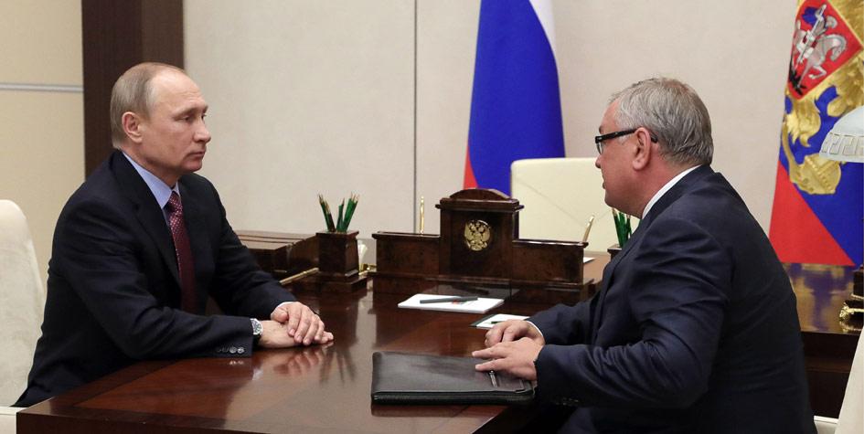Президент РФ В. Путин провел встречу с главой ВТБ А. Костиным