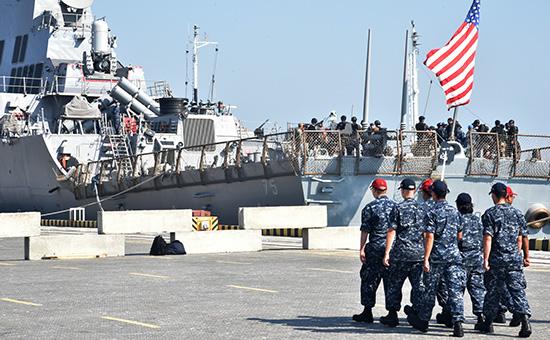 Эсминец США Donald Cook навоенных украинско-американских учениях «Си Бриз-2015». Архивный кадр