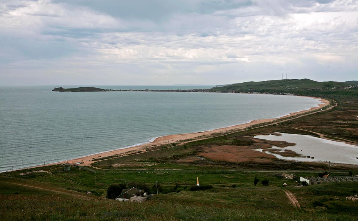Вид на побережье Азовского моря