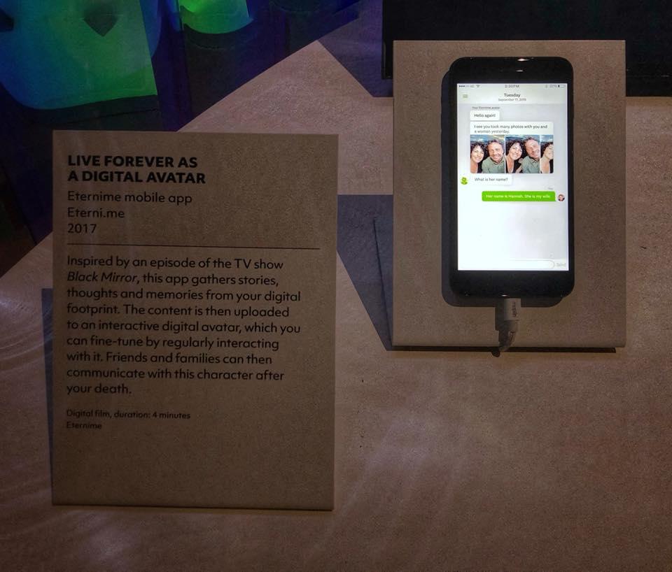 Цифровой аватар от Eterni.me в лондонском Музее Виктории и Альберта