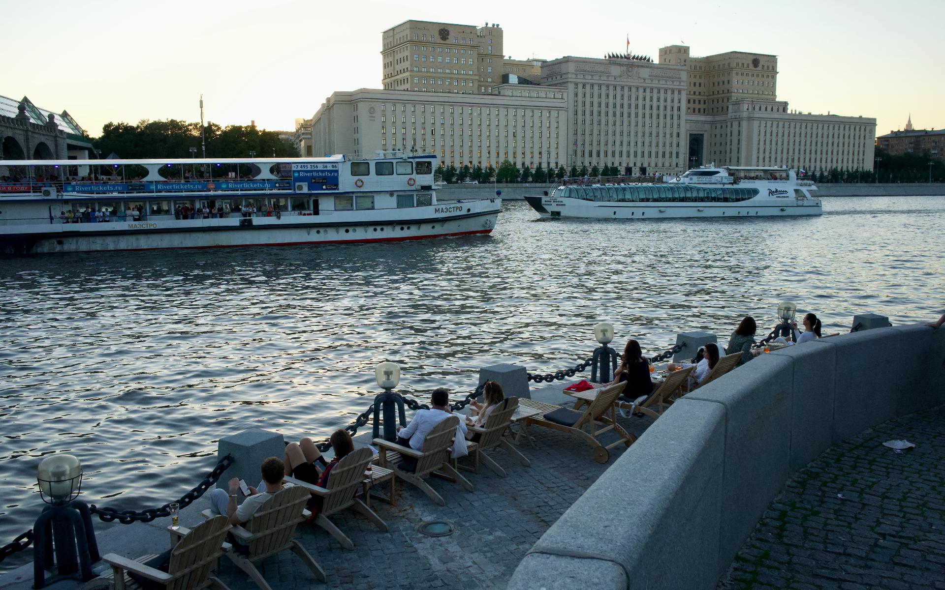 На данный момент в Москвеблагоустроено почти 72 км набережных