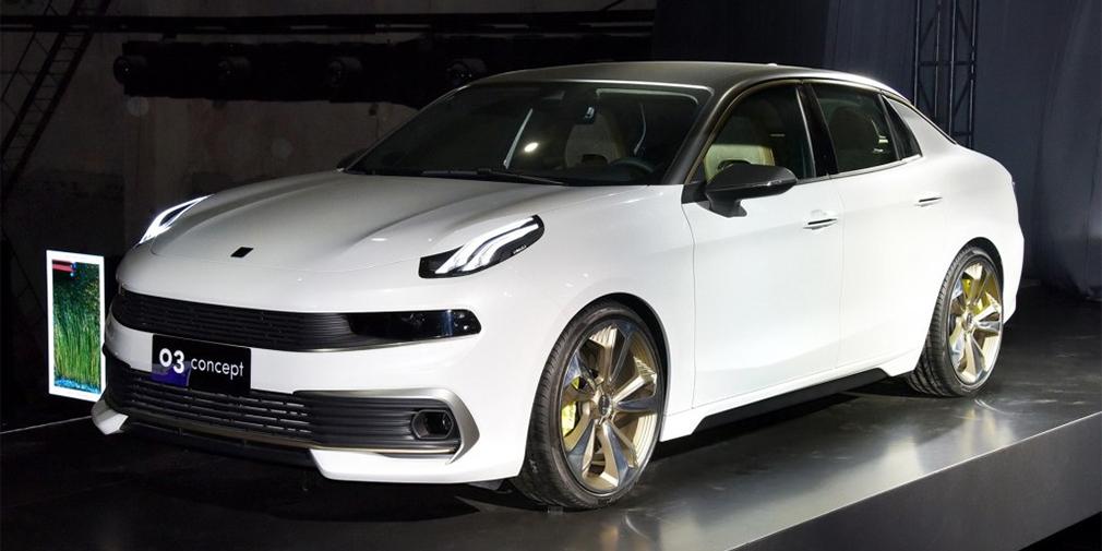 Lynk & Co 03  Еще одна новинка бренда Lynk & Co – концептуальный седан под названием 03, который вскоре тоже получит серийную версию. Продажи машины в Китае начнутся в 2018 г., а чуть позже новинку предложат в США и Европе. В основе – та же платформе CMA, разработанная материанской Geely совместно с Volvo, стиль – как у кроссовера 01. Серийную версию предложат с 1,5-литровым бензиновым двигателем мощностью 180 лошадиных сил. Также обещают и гибрид суммарной отдачей 220 лошадиных сил.