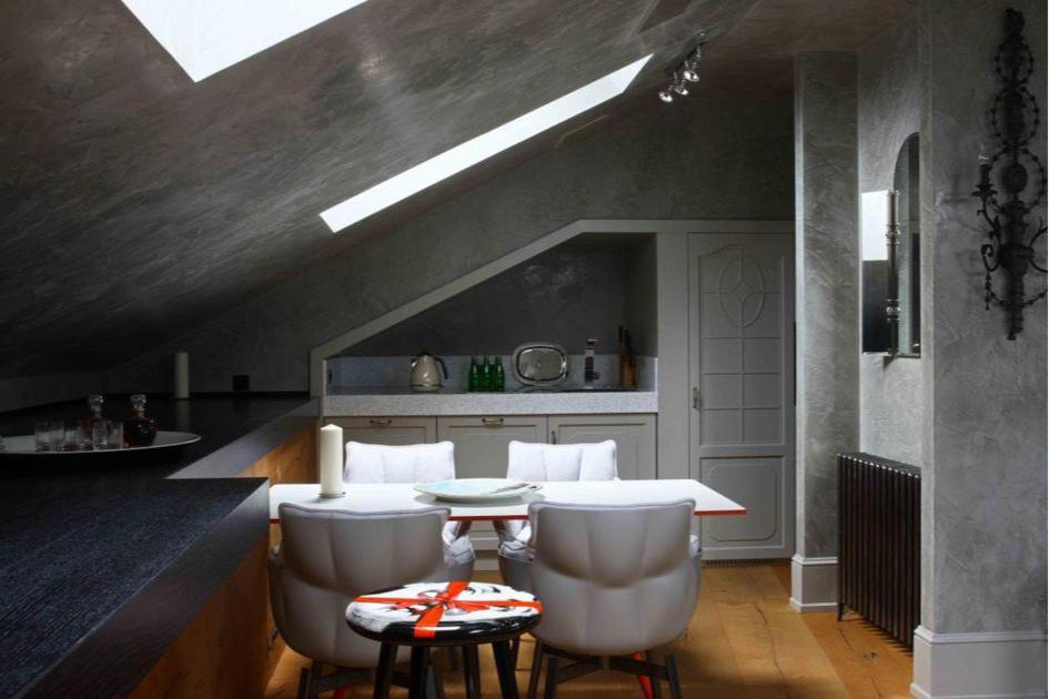 Дизайн небольшой кухни без вытяжки в мастерской