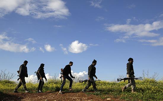Боевики изорганизации «Ахрар аш-Шам» («Исламское движение свободных людей Шама»). Архивное фото