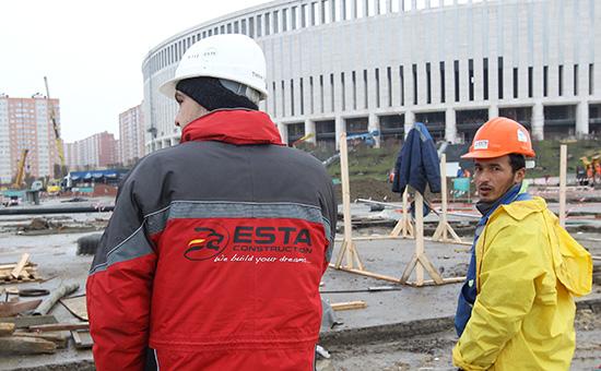 Строительства стадиона ФК «Краснодар» подруководством турецкой компании ESTA Construction