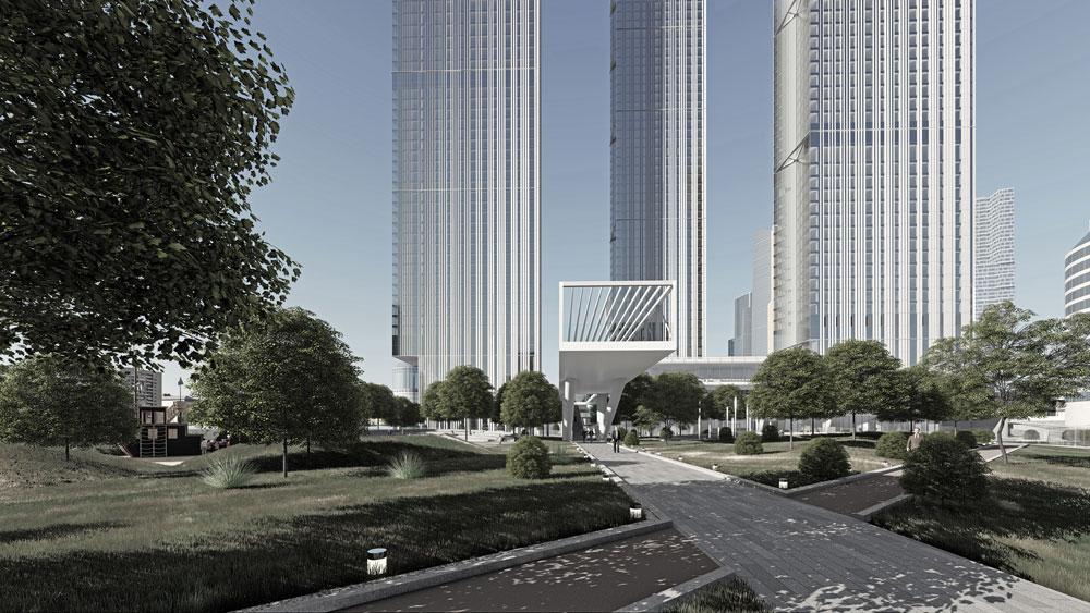 В башнях разместятся офисы и565 квартир на1439 жителей