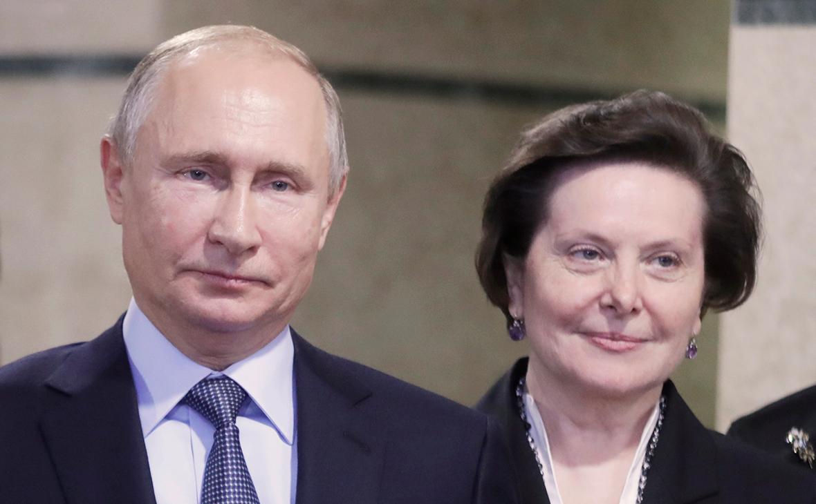 Владимир Путин и Наталья Комарова