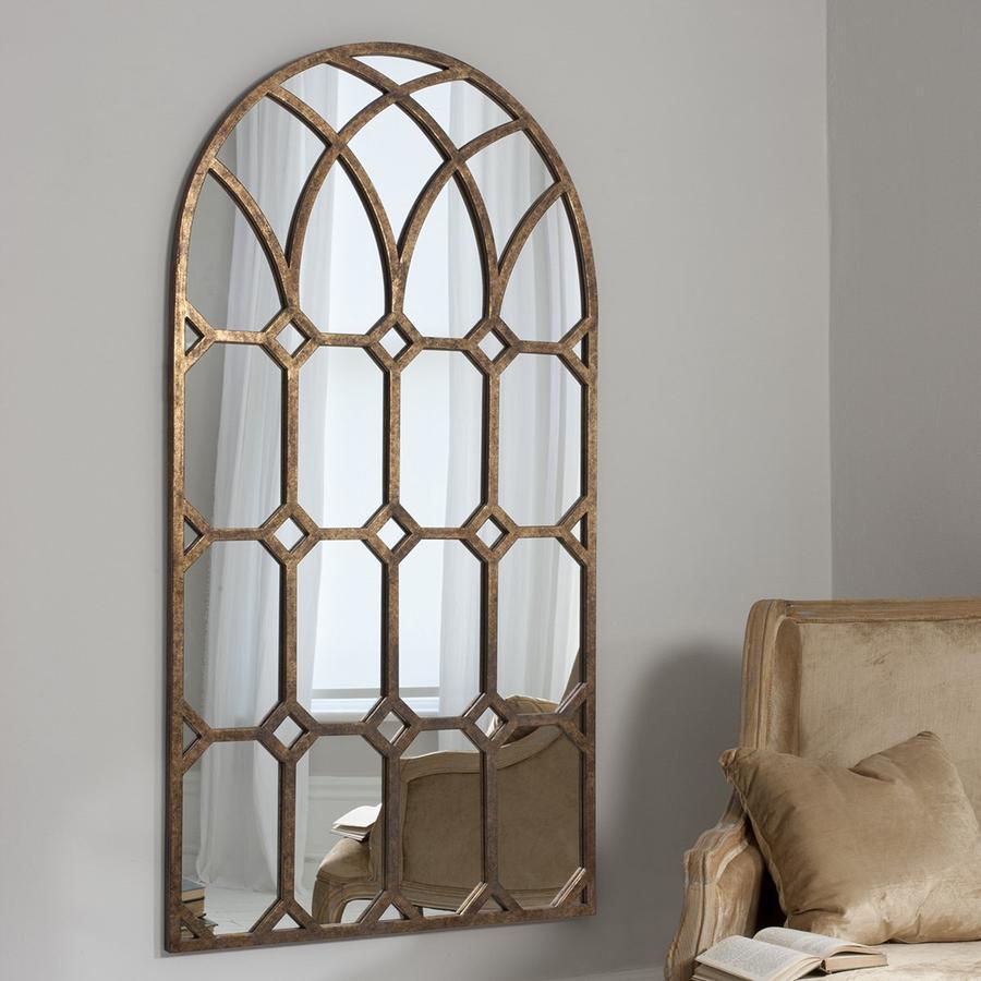 Зеркала в форме арки в гостиной