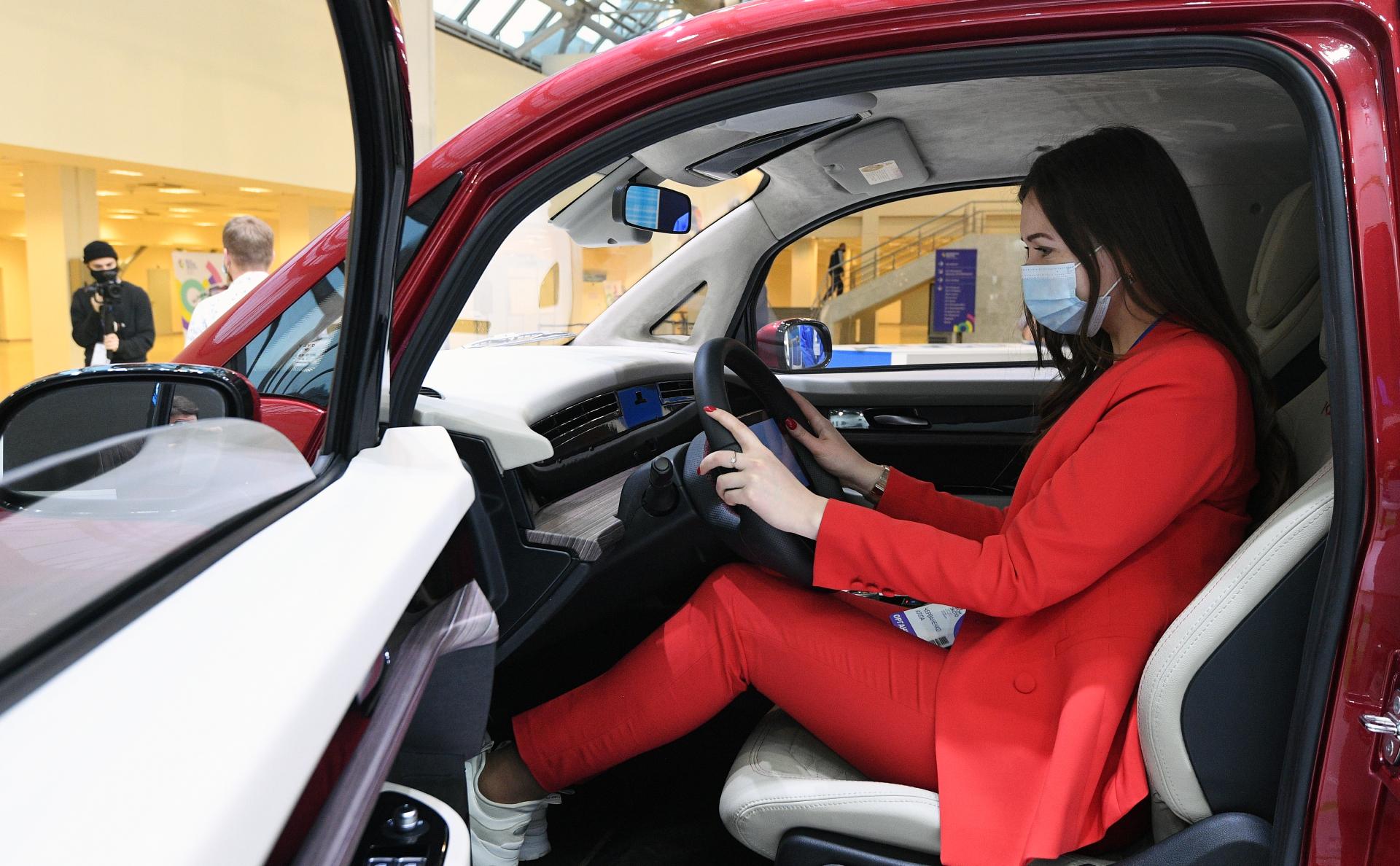Электромобиль «Кама-1» на выставке ВУЗПРОМЭКСПО 2020 в Москве