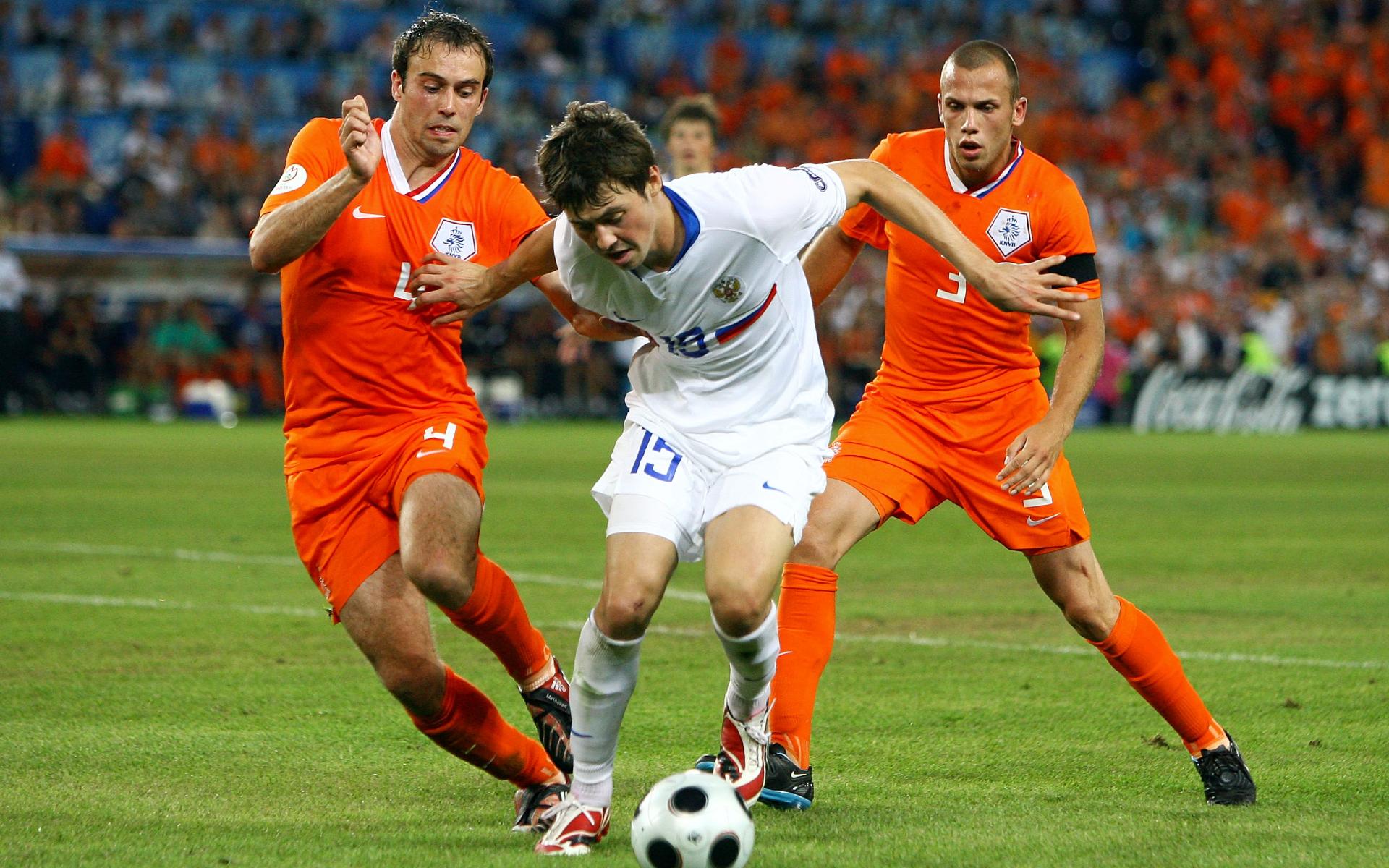 Фото: Динияр Билялетдинов на Евро-2008 (Photo by Alex Livesey/Getty Images)
