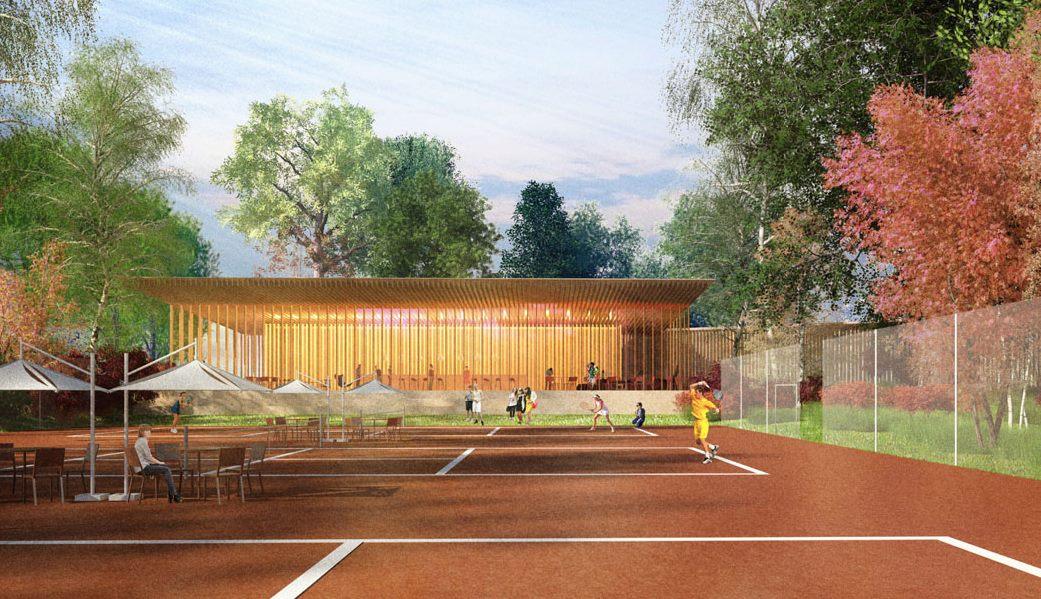 В Теннисном парке построят школу тенниса с круглогодичными кортами, где планируется проводить тренировки для спортсменов и устраивать соревнования