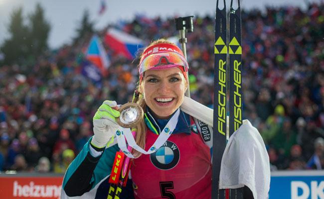 Победительница общего зачета Кубка мира прошлого сезона чешка Габриэла Коукалова
