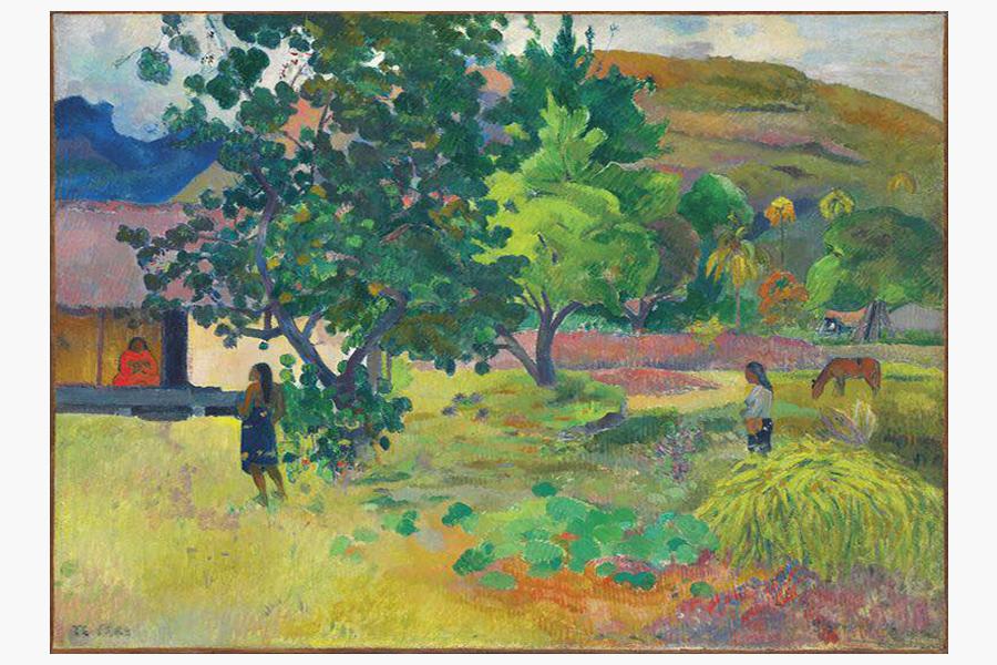 Картина Поля Гогена «Дом» (La maison)